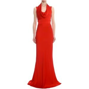 Alexander McQueen Draped Neck Gown floor length